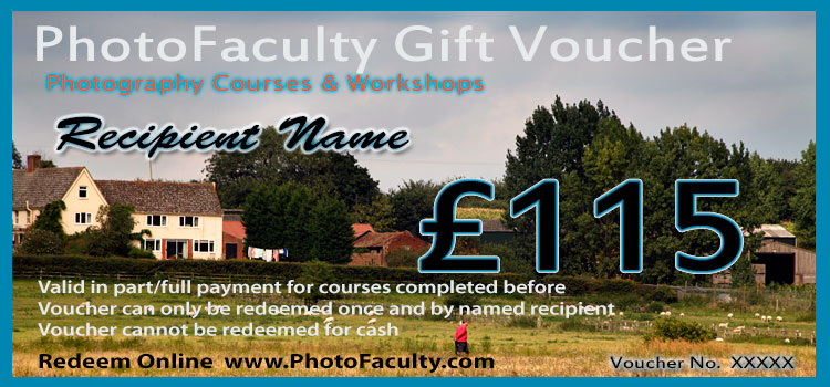 photography gift vouchers and certificates redeemable for photography courses