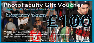 Photography gift voucher £100