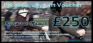 £250 photography gift voucher