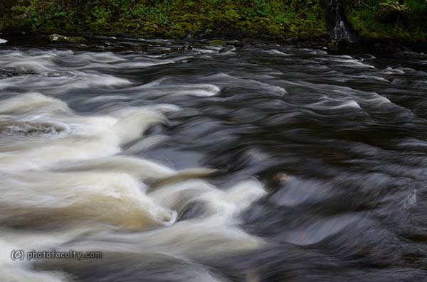 photograph of flowing water